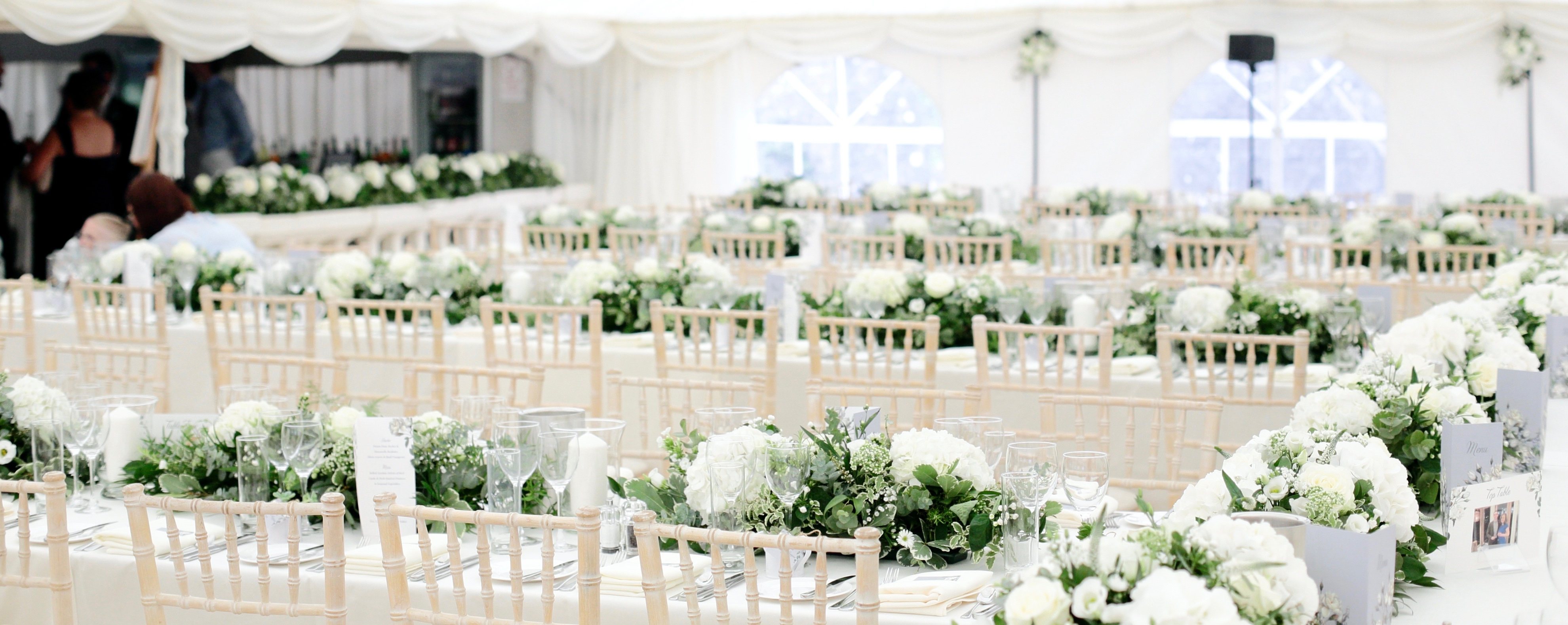 Marquee Tables And Flowers