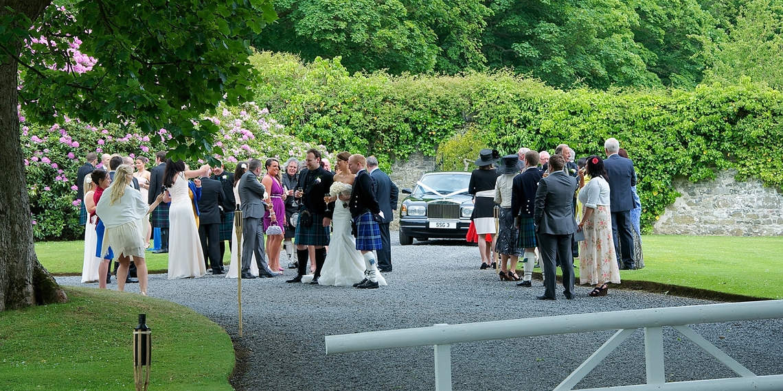 Guests Arrive Wedding